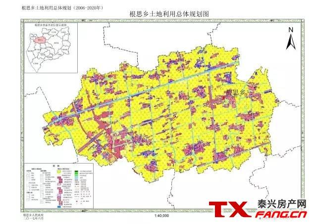 泰兴各乡镇未来总体规划图
