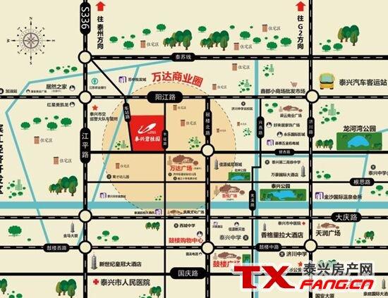 泰兴碧桂园区位图